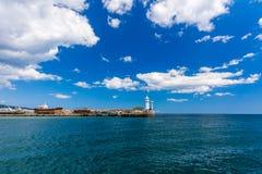 Una vista del faro in Jalta. Jalta. Fotografia Stock Libera da Diritti