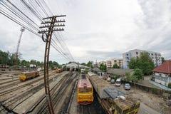 Una vista del ferrocarril de Hat Yai fotos de archivo