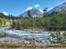 Una vista del fiume di Beas Fotografia Stock
