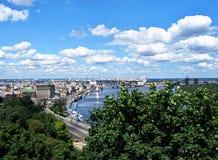 Una vista del fiume di Dnipro Fotografie Stock Libere da Diritti