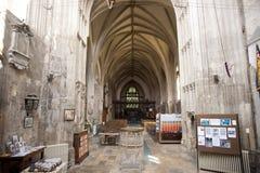 Una vista del interior y del cubo de la abadía de Crowland, Lincolnshire, Imagen de archivo libre de regalías