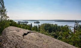 Una vista del lago Fotografia Stock