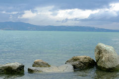Una vista del lago Sapanca Fotografia Stock