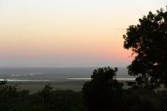 Una vista del lago St Lucia da capo vicino Vidal fotografia stock libera da diritti