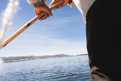 Una vista del lago Titicaca Fotografia Stock