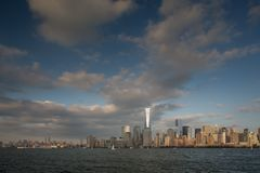 Una vista del Lower Manhattan immagine stock libera da diritti