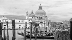 Una vista del mare alla basilica Santa Maria della Salute, Venezia fotografie stock