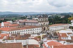 Una vista del monasterio de Alcobaca, Portugal fotografía de archivo