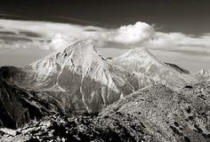 Una vista del Mt. Vihren, l'più alto picco in Europa Orientale fotografie stock
