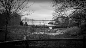 Una vista del océano del parque que jugamos adentro Foto de archivo