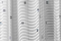 Una vista del primo piano di un pezzo di tessuto Immagine Stock