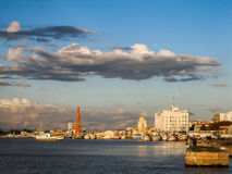 Una vista del puerto del ` s de Rio Grande - la ciudad más vieja del estado de Río Grande del Sur Imagenes de archivo