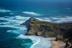 Una vista del punto Suráfrica del cabo foto de archivo