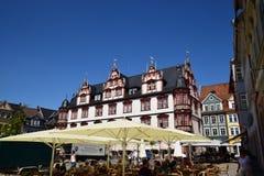 Una vista del quadrato storico del mercato in Coburg, Germania Immagine Stock