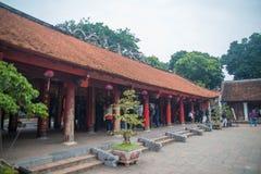 Una vista del templo adentro de la literatura en Hanoi, Vietnam foto de archivo libre de regalías