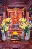 Una vista del templo adentro de la literatura en Hanoi, Vietnam foto de archivo