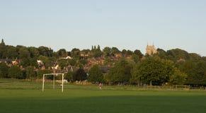Una vista del terreno comunale ad ovest, Lincoln, Lincolnshire, Regno Unito Immagini Stock Libere da Diritti