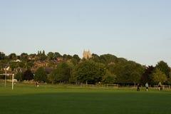 Una vista del terreno comunale ad ovest, Lincoln, Lincolnshire, Regno Unito Immagine Stock Libera da Diritti