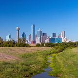 Una vista dell'orizzonte di Dallas, il Texas Immagini Stock Libere da Diritti