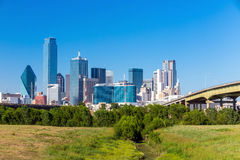 Una vista dell'orizzonte di Dallas, il Texas Fotografia Stock Libera da Diritti