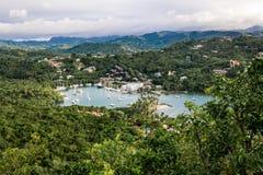 Una vista della baia di Marigot Fotografia Stock