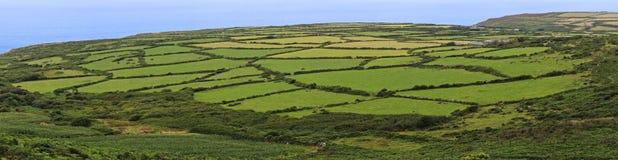 Una vista della campagna di Cornovaglia vicino a Zennor, Regno Unito immagine stock libera da diritti