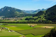 Una vista della campagna svizzera Immagini Stock Libere da Diritti