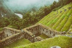 Una vista della carta da parati da Machu Picchu Fotografia Stock Libera da Diritti