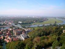 Una vista della città di Dresda. Fotografia Stock