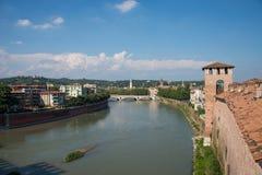 Una vista della città di Verona, Italia Fotografia Stock