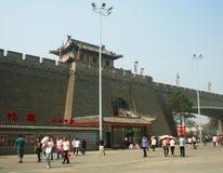 Una vista della città di Xi'an mura il cancello del nord Immagini Stock Libere da Diritti