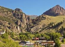 Una vista della città storica di Creede in Colorado Immagine Stock Libera da Diritti