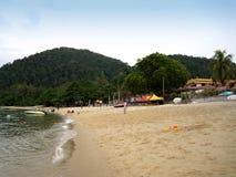 Una vista della spiaggia dell'isola di pangkor, Malesia Fotografia Stock