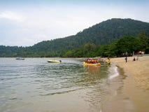 Una vista della spiaggia dell'isola di pangkor, Malesia Immagine Stock