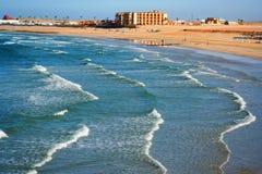 Una vista della spiaggia di Sandy Fotografia Stock