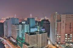 una vista della strada principale pallida HK di Tsuen immagini stock libere da diritti