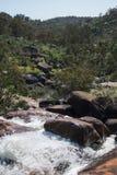 Una vista della valle di John Forrest National Park dalla cima della caduta Fotografia Stock