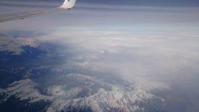 Una vista delle alpi da un aereo Immagine Stock Libera da Diritti