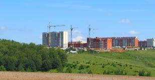 Una vista delle costruzioni della costruzione di nuovo distretto Fotografie Stock Libere da Diritti
