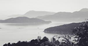 Una vista delle isole nebbiose, nelle prime ore del mattino Immagine Stock Libera da Diritti