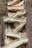 Una vista delle scale di zigzag sulla roccia, Guatape, Colombia Fotografie Stock