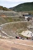 Una vista dello stadio enorme alle rovine di Ephesus Immagini Stock Libere da Diritti