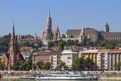 Una vista di Budapest - le capitali dell'Ungheria Fotografia Stock Libera da Diritti