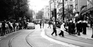 Una vista di Costantinopoli fotografie stock libere da diritti