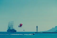 Una vista di Cote d'Azur, Francia del sud Fotografia Stock Libera da Diritti
