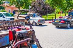 Una vista di una della via di Emirdag, fotografie stock