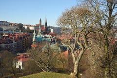 Una vista di Gothenburg dalla ridotta di Skansen Kronan, Svezia Gotehburg Fotografie Stock