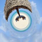 una vista di 360 gradi di bella spiaggia tropicale Fotografia Stock Libera da Diritti