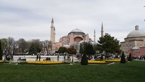 Una vista di Hagia Sophia, Costantinopoli, Turchia fotografia stock