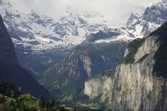 Una vista di Lauterbrunnen, Svizzera Immagine Stock Libera da Diritti